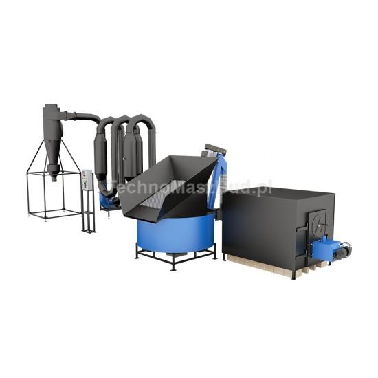 Aerodynamic dryer for sawdust SA-600 PRO