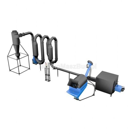 Aerodynamic dryer for sawdust SA-400 PRO
